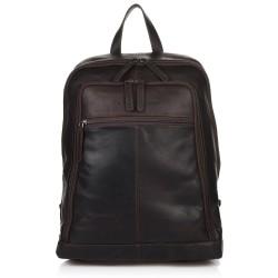 Τσάντα Πλάτης Δέρμα Laptop 14,1'' The Chesterfield Brand C58.0155 Καφέ