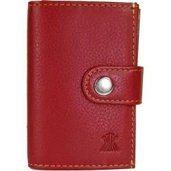 Καρτοθήκη-Πορτοφόλι Δέρμα Kappa 4399 Κόκκινο