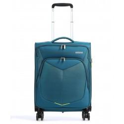 Βαλίτσα Καμπίνας 55εκ American Tourister Summerfunk Spinner 124889-2824 Πετρόλ