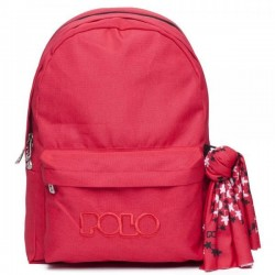 Σακίδιο Πλάτης σχολικό Polo Original Double 901235 Κόκκινο