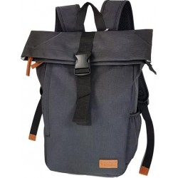 Τσάντα Πλάτης Laptop 15.6'' Rcm Rolltop 2830 Μαύρο