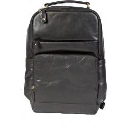 Τσάντα Πλάτης Δέρμα Laptop 15,6'' Cozy 170823 Μαύρο