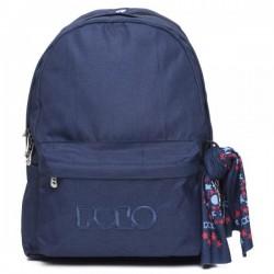 Σακίδιο Πλάτης σχολικό Polo Original Double 901235 Μπλε