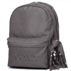 Σακίδιο Πλάτης σχολικό Polo Original Double 901235 Γκρι