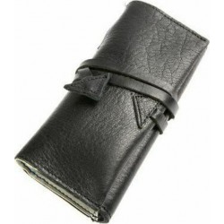 Καπνοθήκη Δέρμα με κορδόνι Kouros Μαύρο