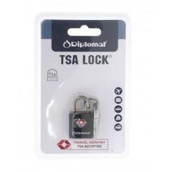 Λουκέτο ασφαλείας TSA με κλειδί Diplomat ACLOCK1 Μαύρο