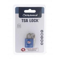 Λουκέτο ασφαλείας TSA με κλειδί Diplomat ACLOCK1 Μπλε