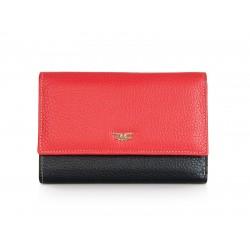 Πορτοφόλι Γυναικείο Δέρμα Forest 1002F Κόκκινο/Μαύρο